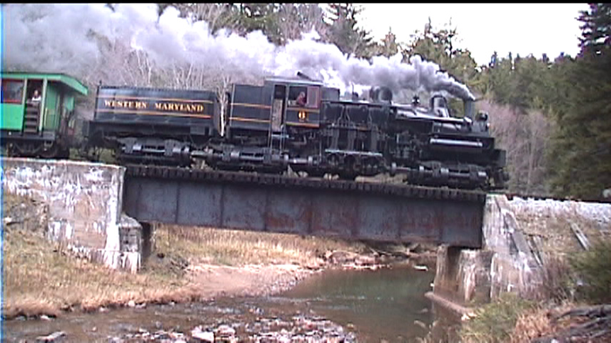 Western Maryland Shay 6 on the Cheat Mountain Branch